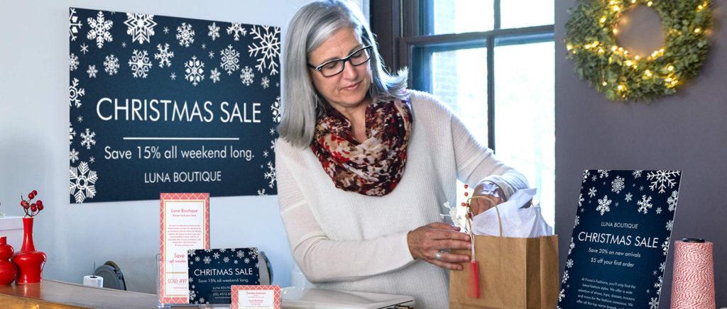 Christmas marketing material preparation