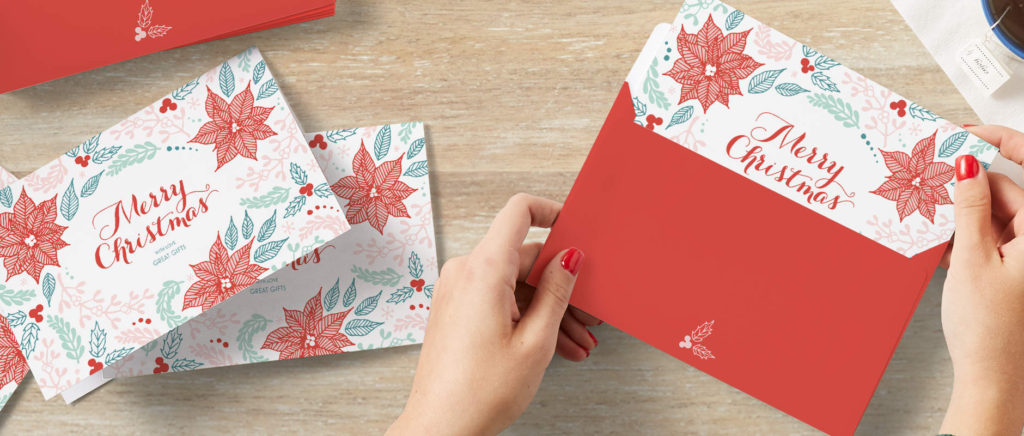 Christmas card preparation for customers