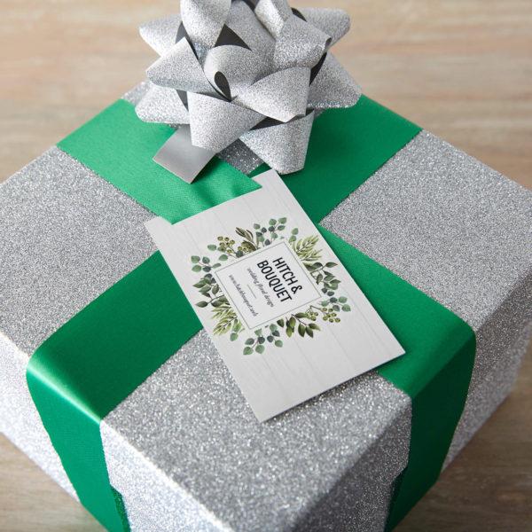 DIY business card Christmas gift tag