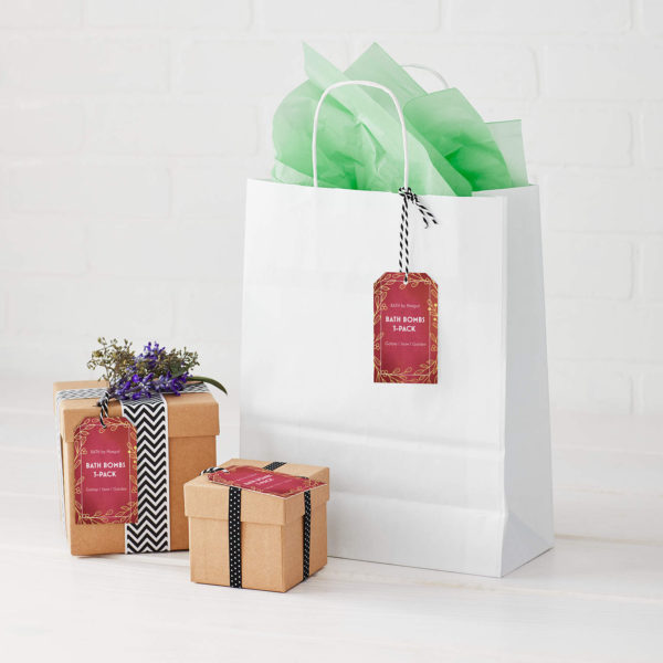 DIY stickers for Christmas packaging